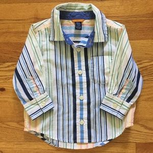 babyGap multicolored button up shirt with stripes